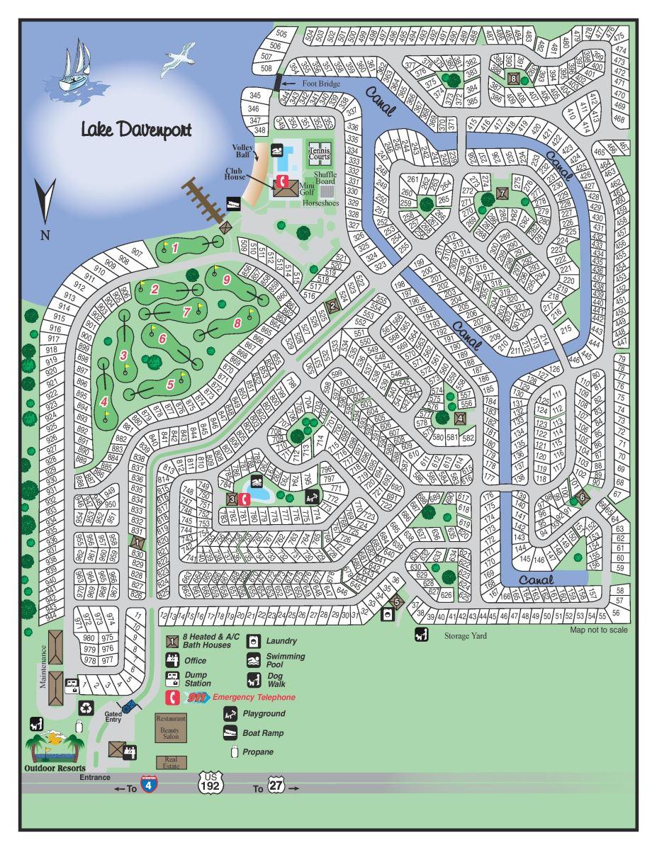 Resort Map Outdoor Resorts At Orlando